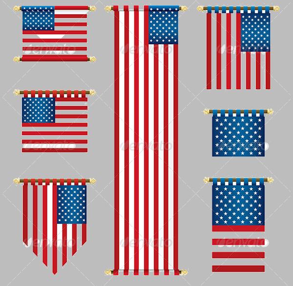 USA Hanging Banner