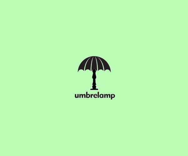 Umbrella Lamp Logo Design For Free