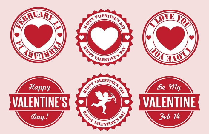 Valentine's Day Free Vector Badges