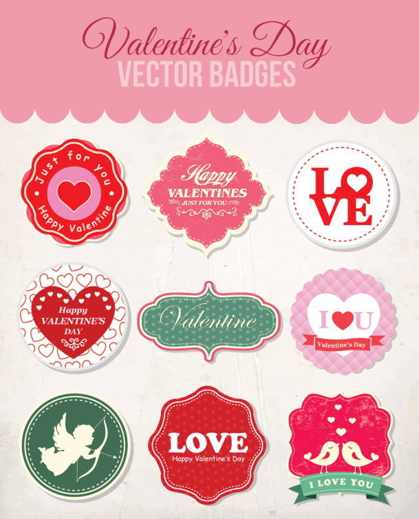 Valentine's Day Vector Badges