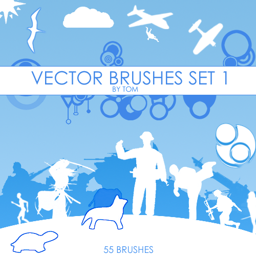 Vector Photoshop Brushes Set
