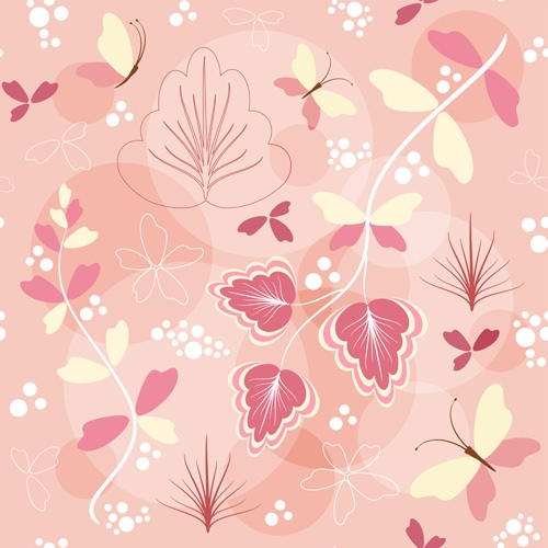 Vector Seamless Floral Patterns
