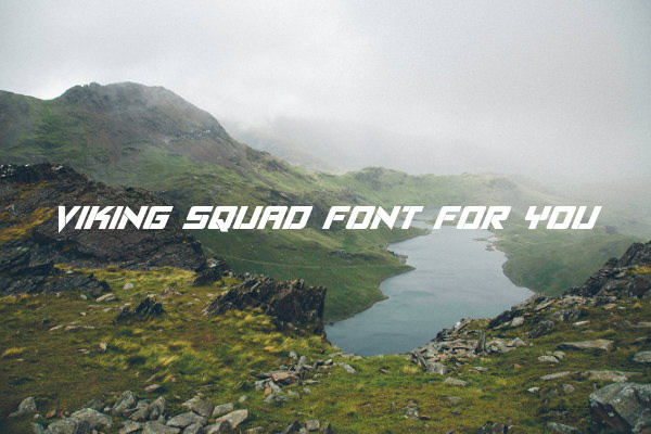 Viking Squad Font For You
