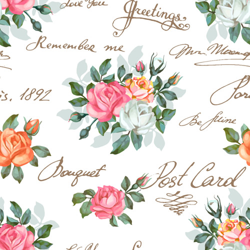 20+ Vintage Floral Patterns | Photoshop Patterns ...