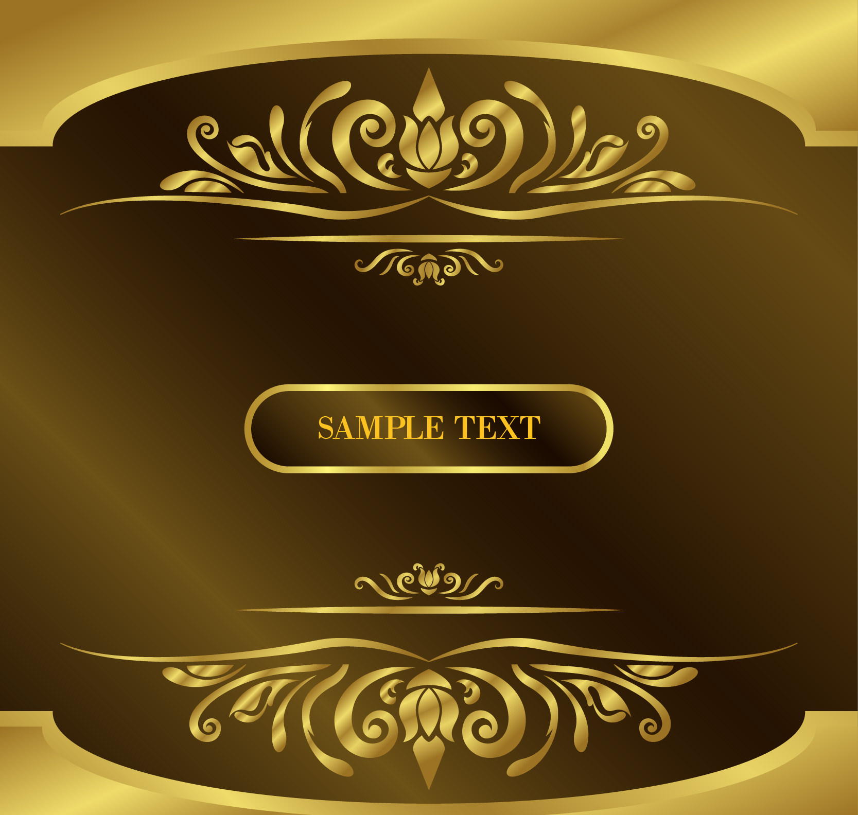 vintage gold background with text