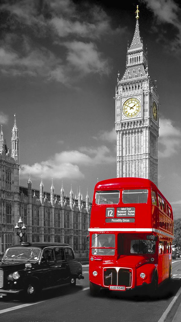 Vintage London iPhone 5c Background For Free