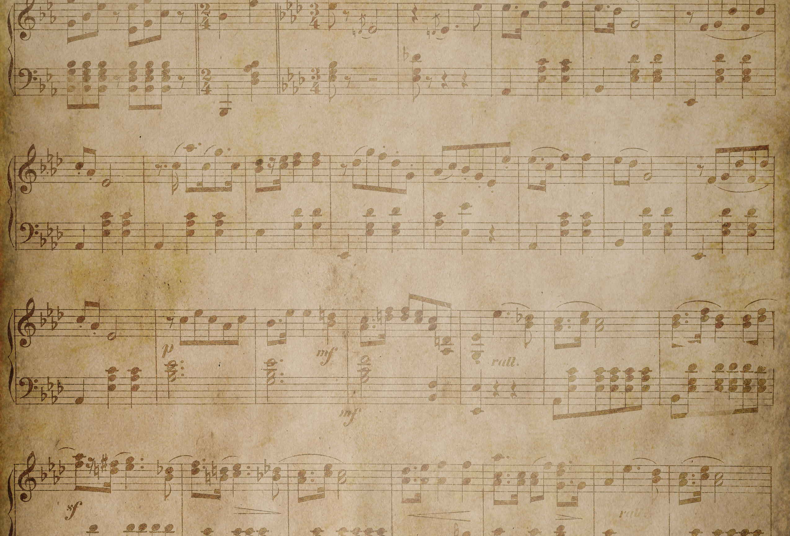 Vintage Music Paper Texture with Grunge Effect
