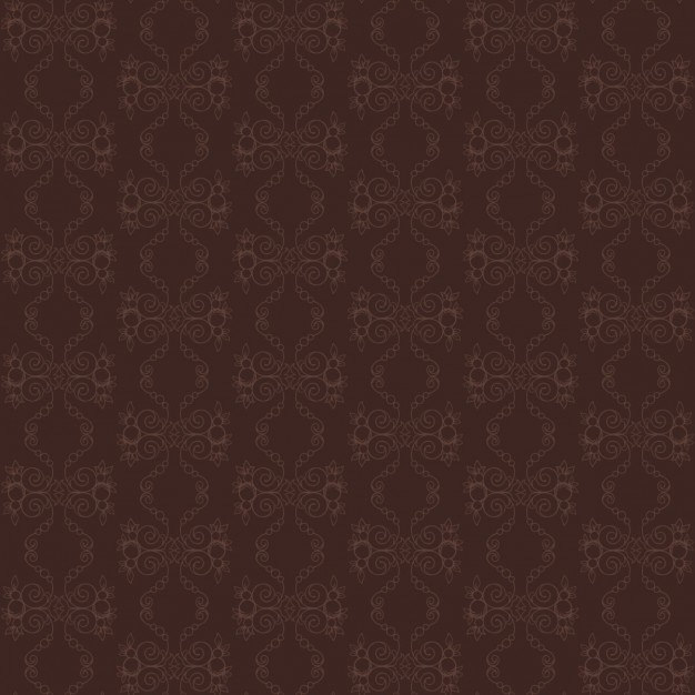 Vintage Ornament Brown Pattern Free Vector