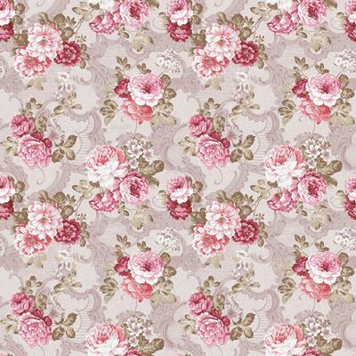 Vintage Pink Floral Wallpaper Pattern