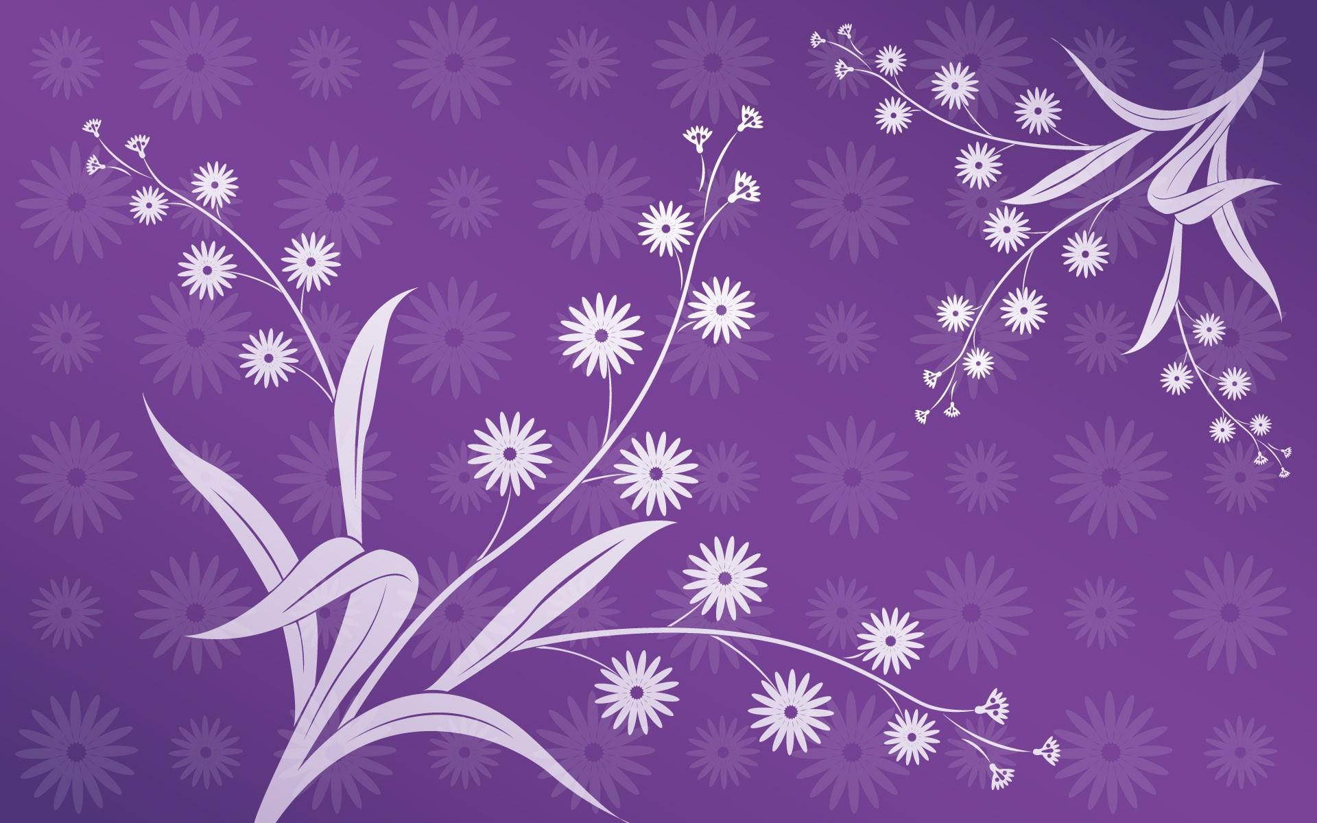 Vintage Purple Floral Wallpaper