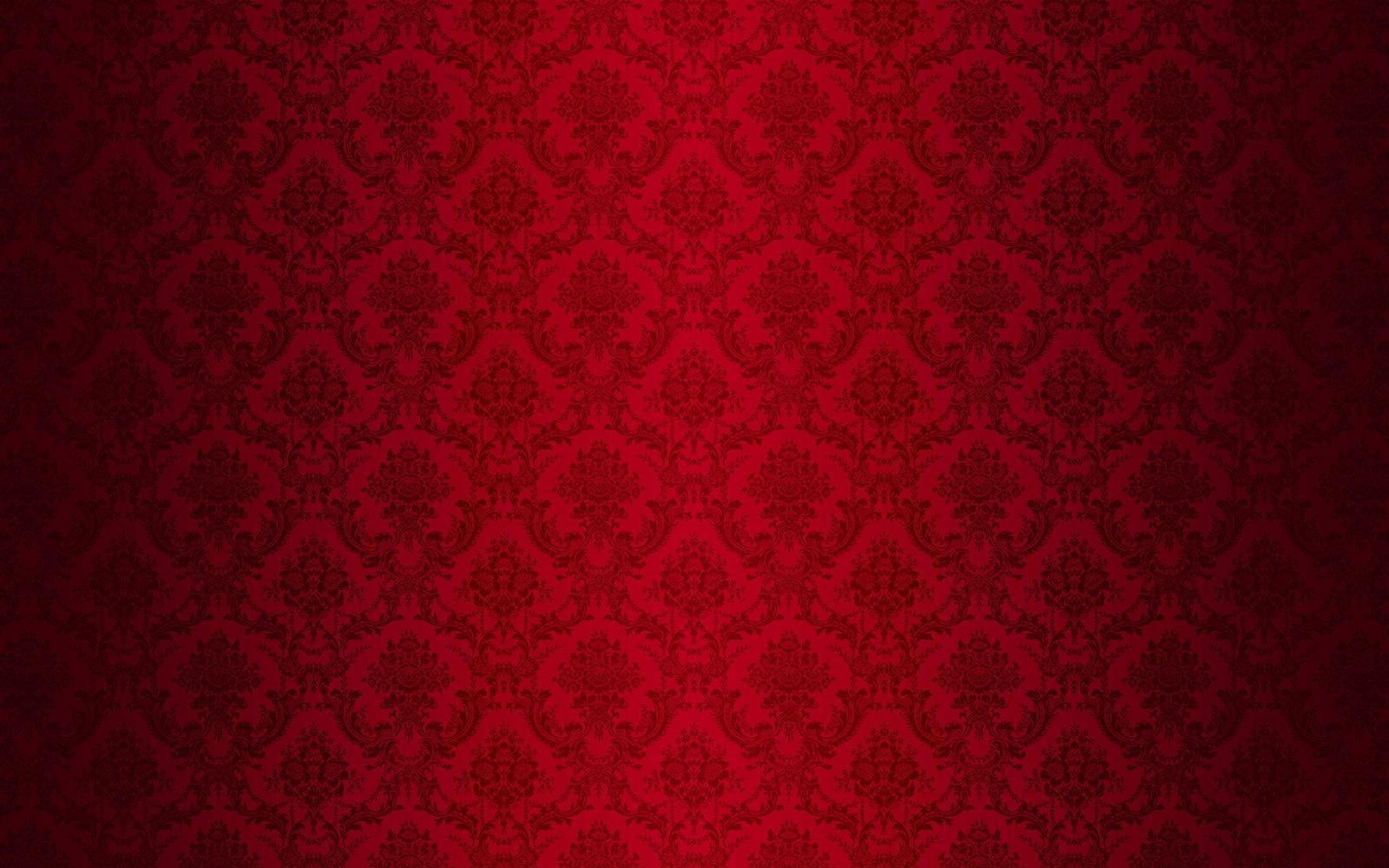 Vintage Red Damask Background