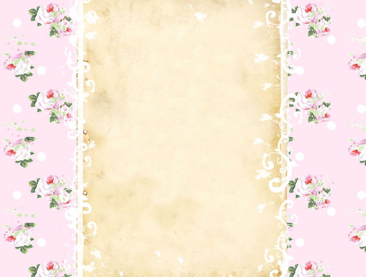 Vintage Roses Blog Background