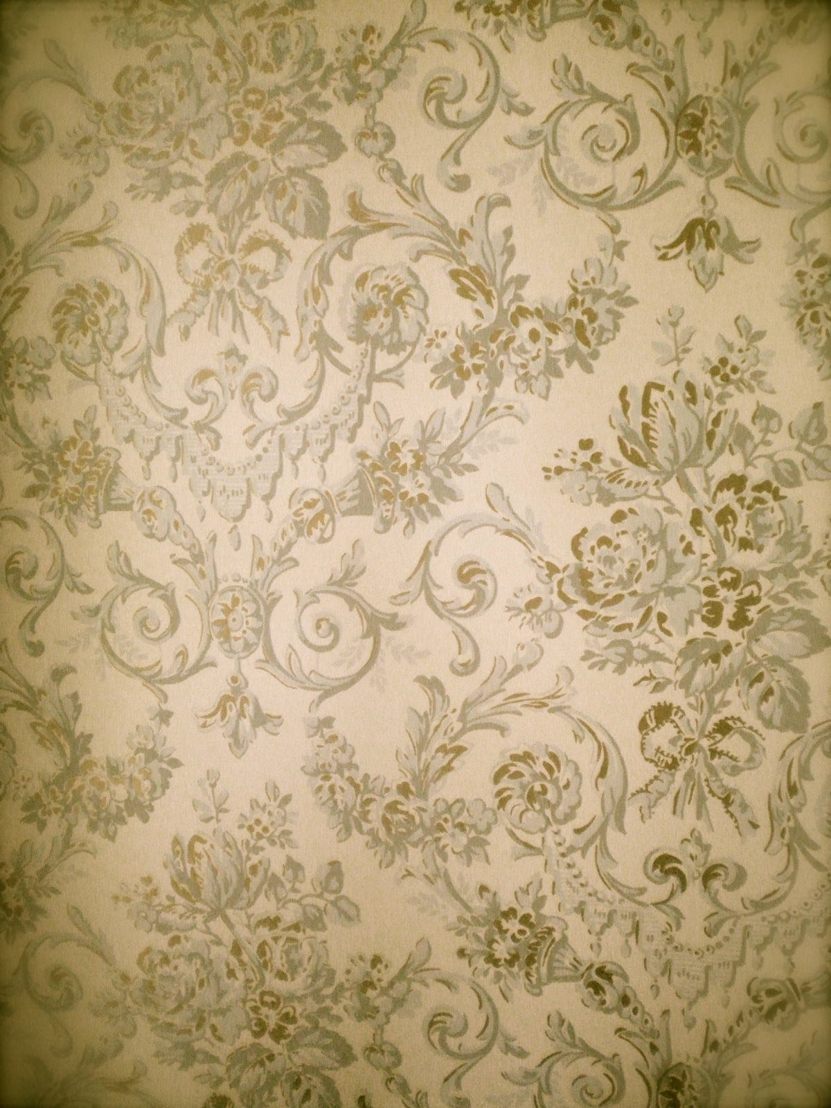 Vintage Victorian Flower Background
