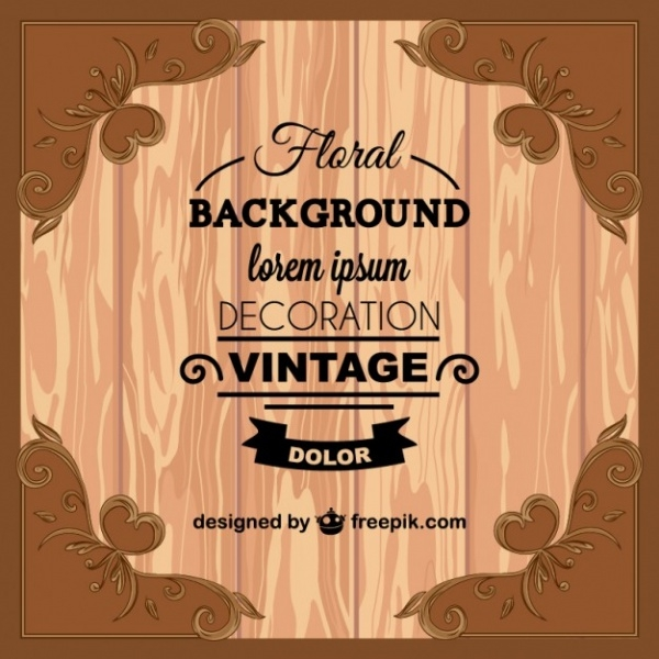 Vintage Wooden Greeting Card Invitation