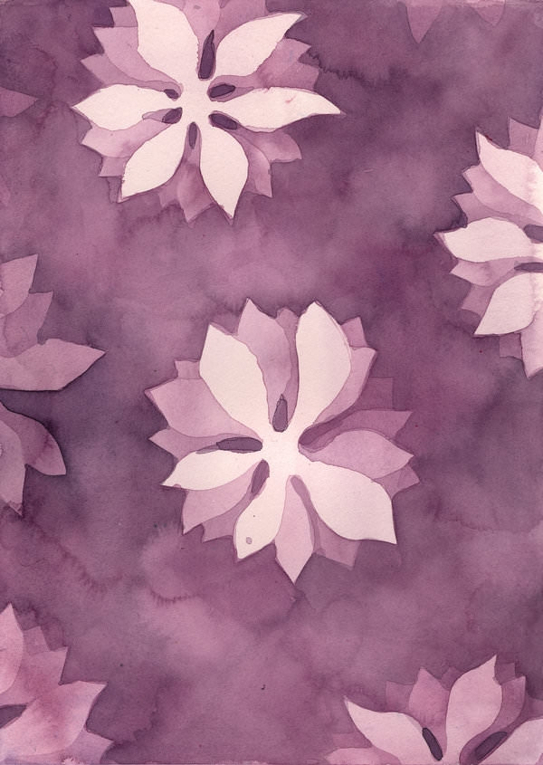 Watercolor Flower Background Texture