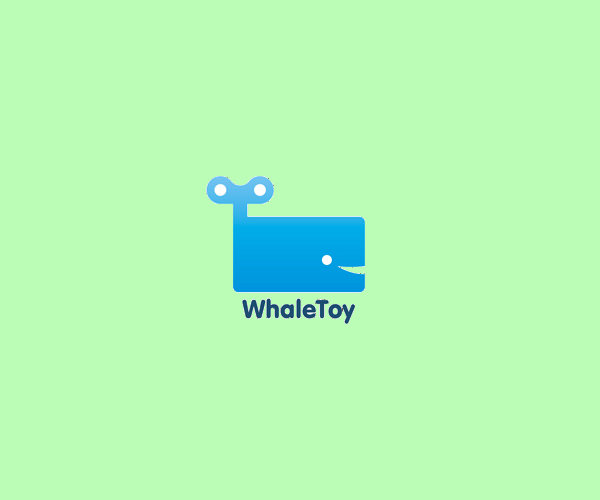 Whale Toy Logo Design For Free