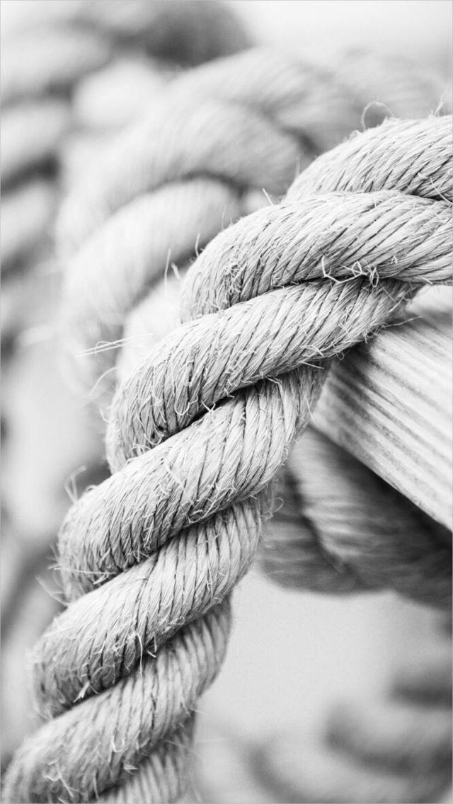 White Marine Knot Rope iPhone 5s Background