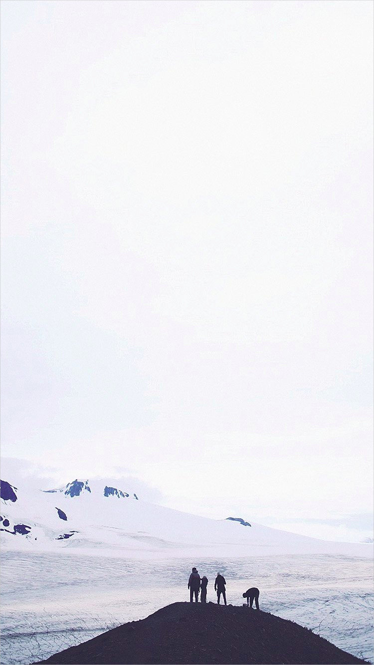 White Nature Snow Background For iPhone 6
