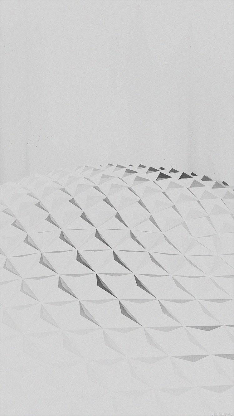 White Polygon Art For iPhone Background