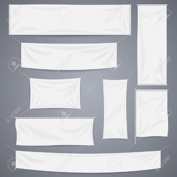 White Textile Hanging Banners