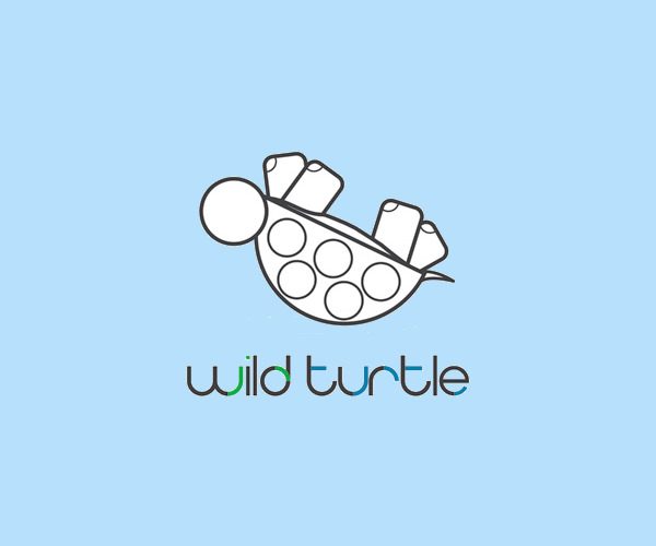 Wild Turtle Logo Design For Free