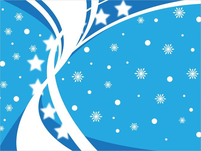 Winter Blue & White Background For Free