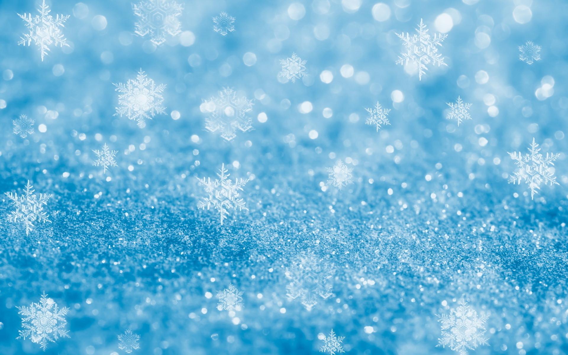 Wonderful Snow Flake Blue Glitter Background