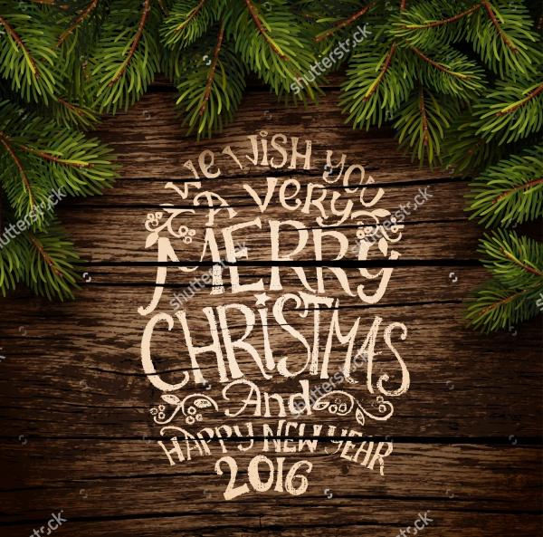 Wooden Christmas Invitation Design