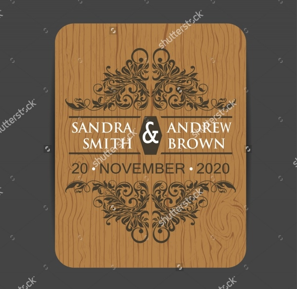 Wooden Engagement Invitation