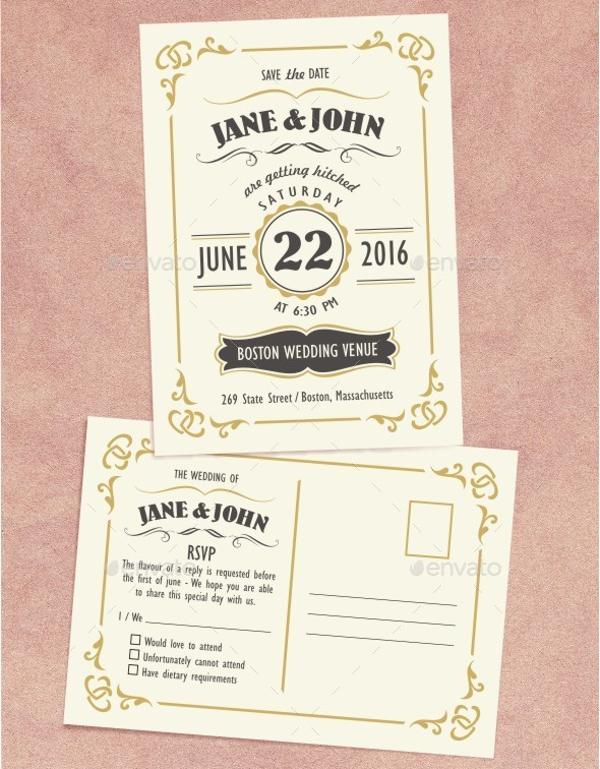 Wooden Wedding Invitation Design