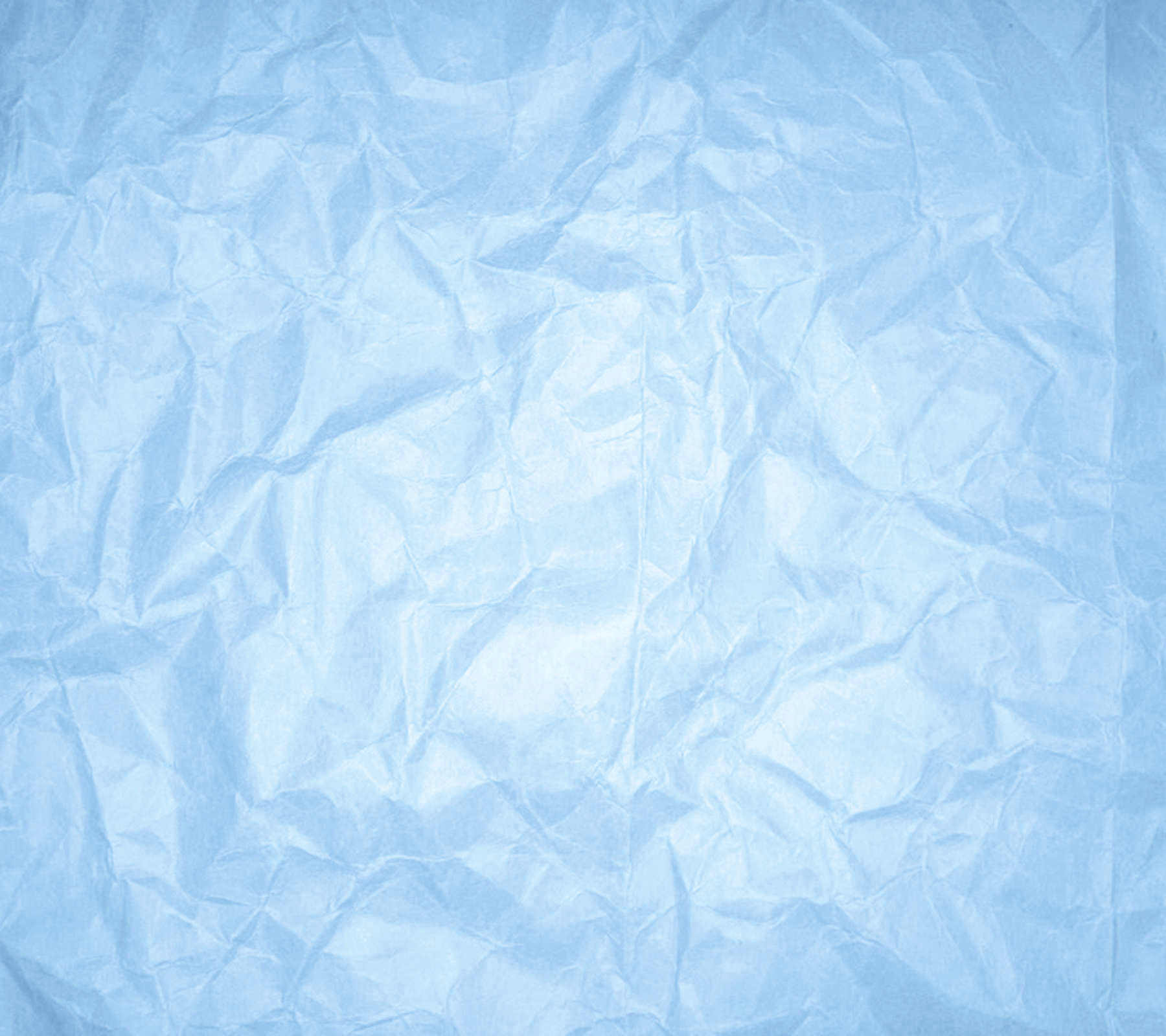 Wrinkled Baby Blue Paper Background
