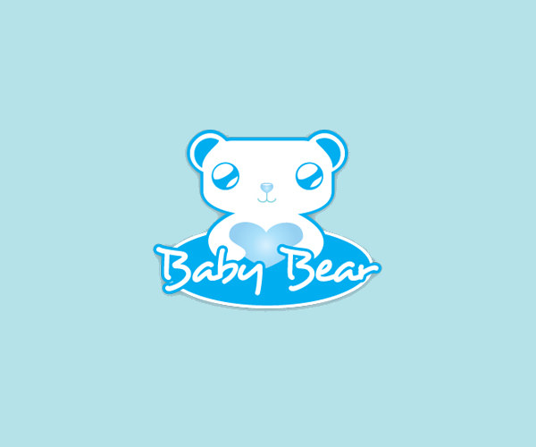 Yarn Blue Bear Logo Design For free