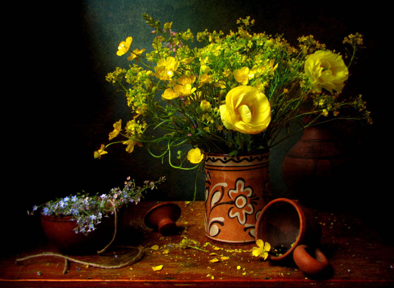 Yellow Flowers Background Free For You