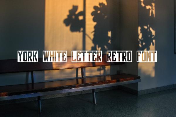 York White Letter Retro Font