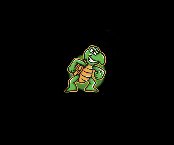 Young Turtle Logo Design For Free