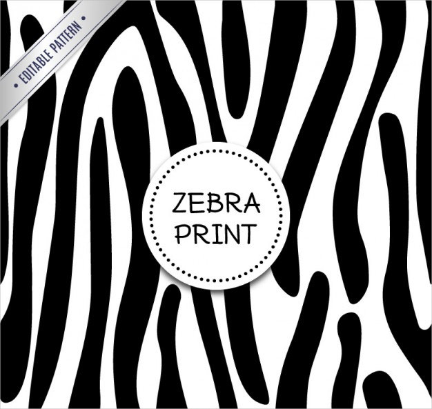 Zebra Pattern Free Vector Download