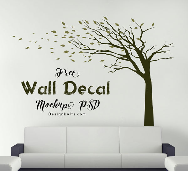 photo realistic free wall mockups