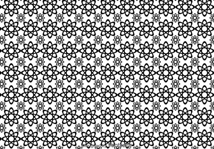vector-black-and-white-flowers-shape-pattern