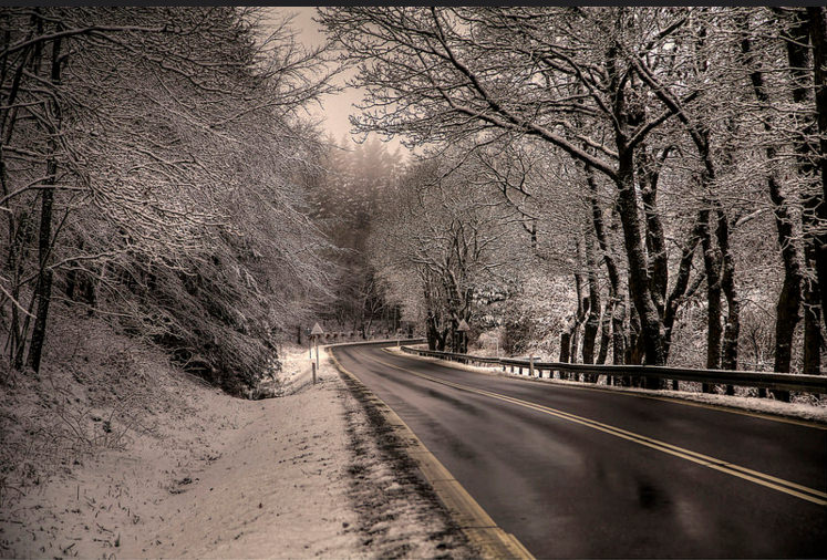 winter Road Background For Free
