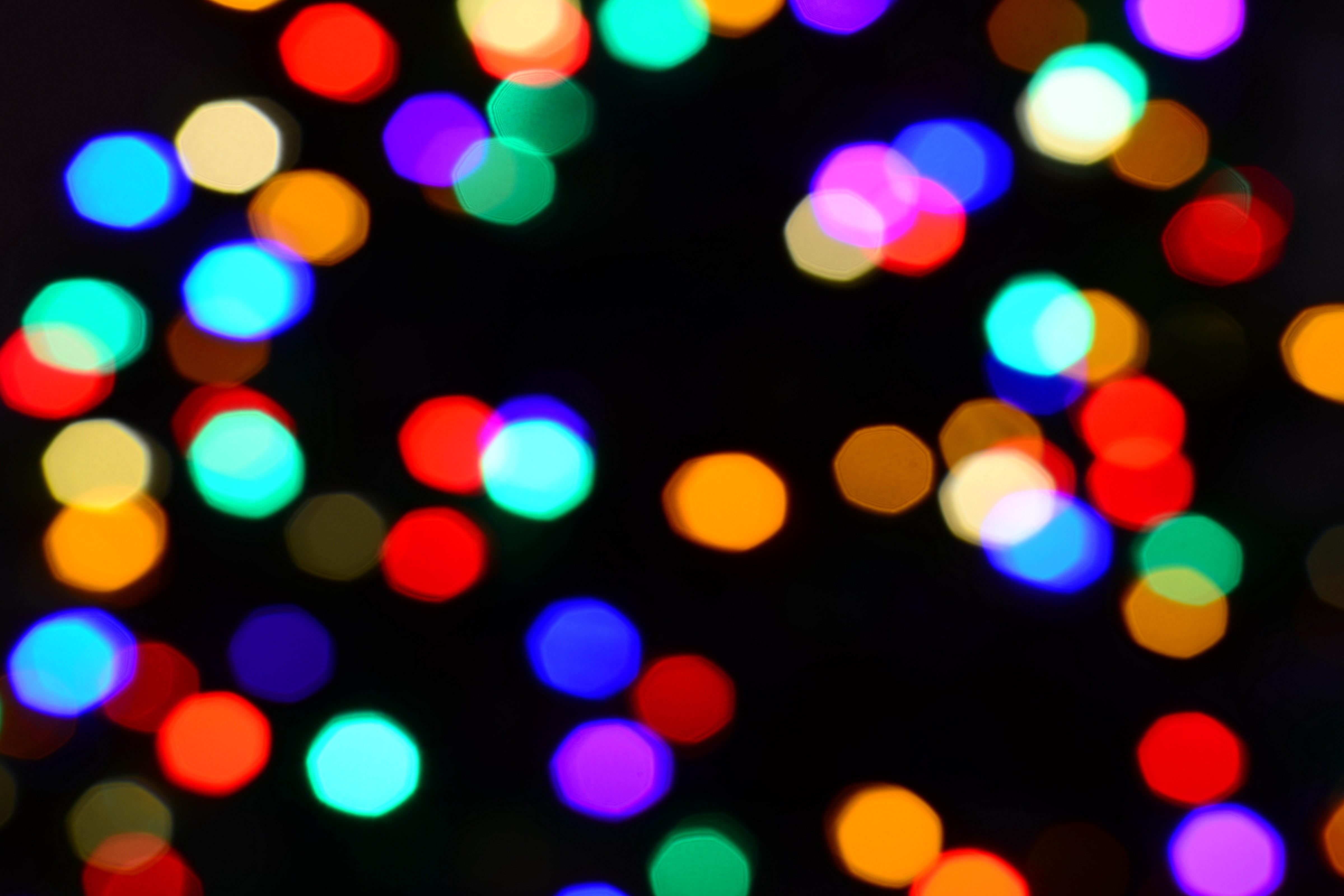 10 Christmas Light Bokeh Textures
