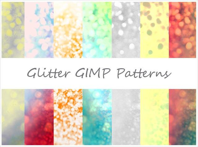 10 Free Glitter GIMP Patterns