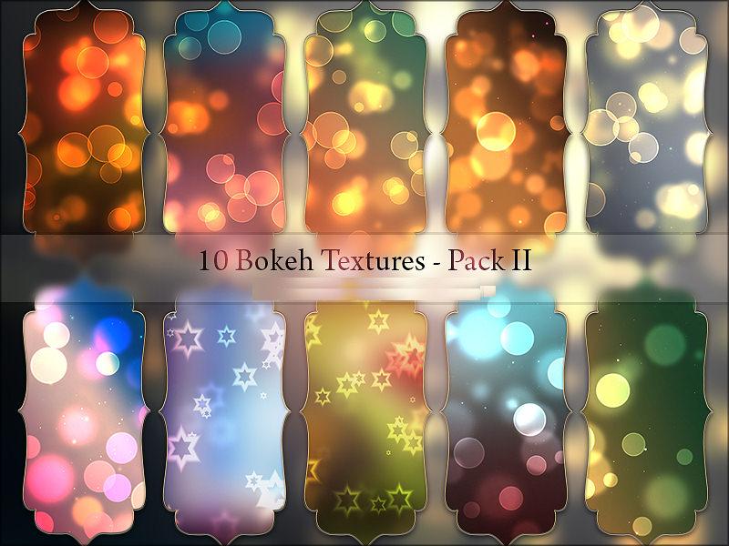 10 Light Bokeh Textures Pack