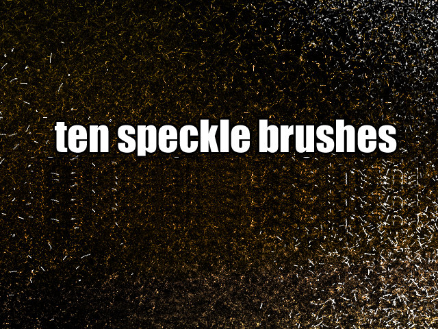 10 Speckle Brushes for Adobe Photoshop