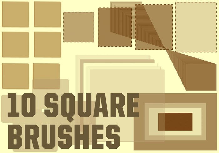 10 Square Brushes For Photoshop