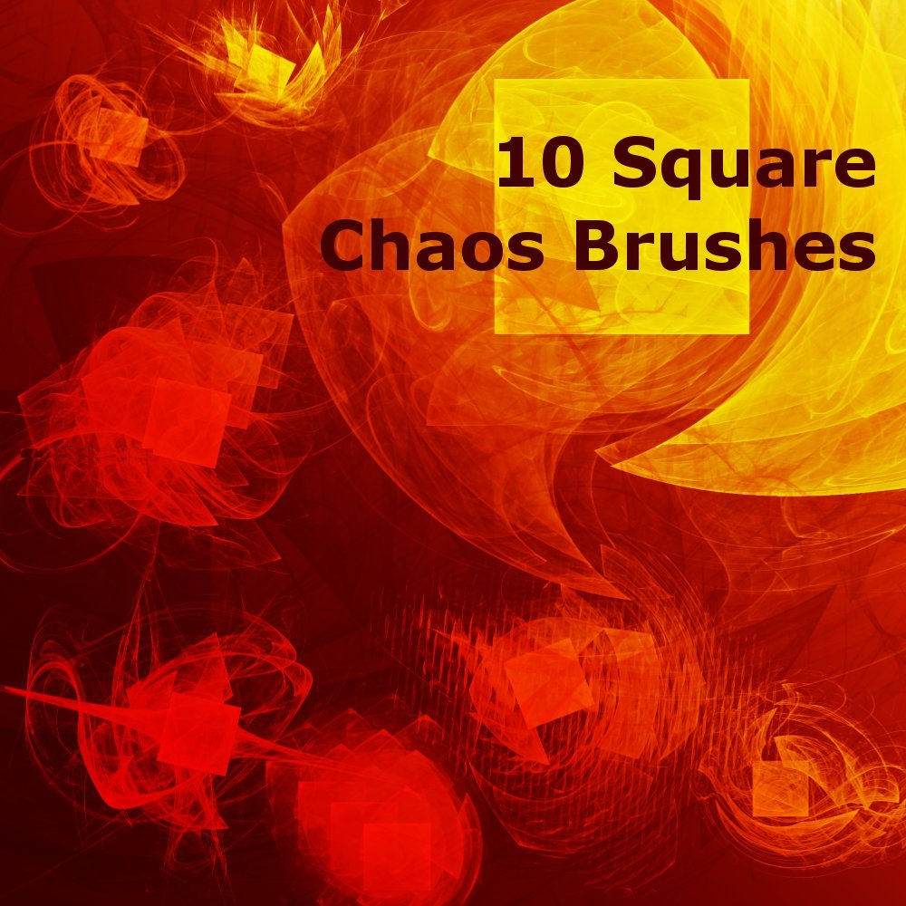 10 Square Chaos Free Photoshop Brushes