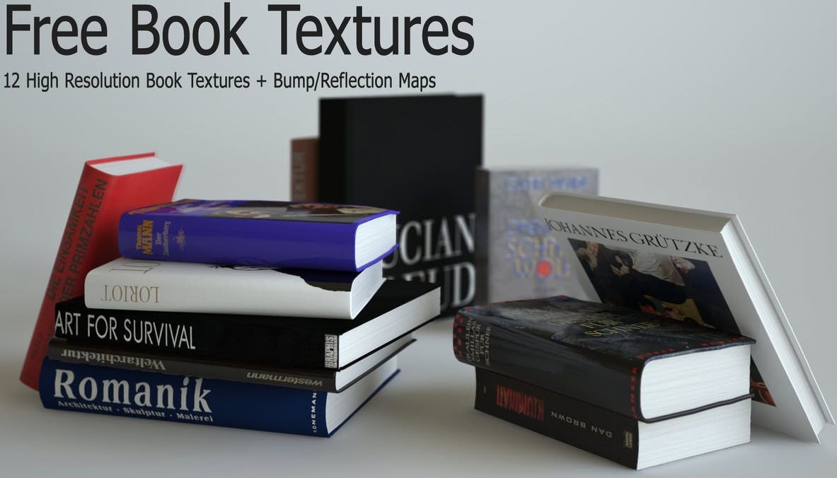 12 High Res Book Textures