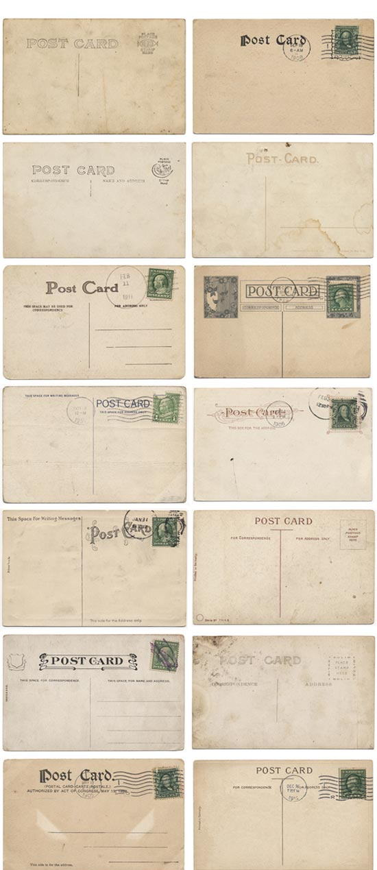 14 High Res Free Vintage Post Card Textures