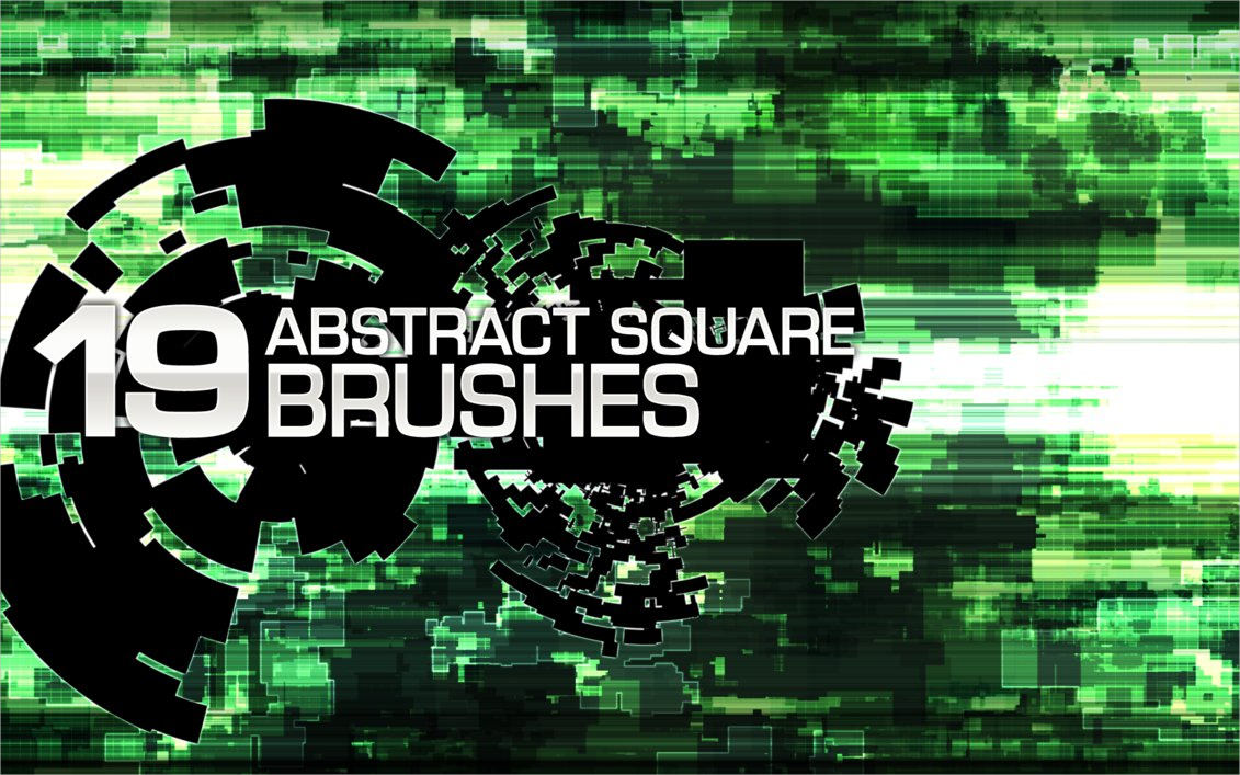 19 Abstract Square Brushes For Free