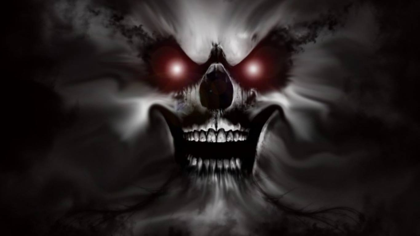 Scary Skull Background