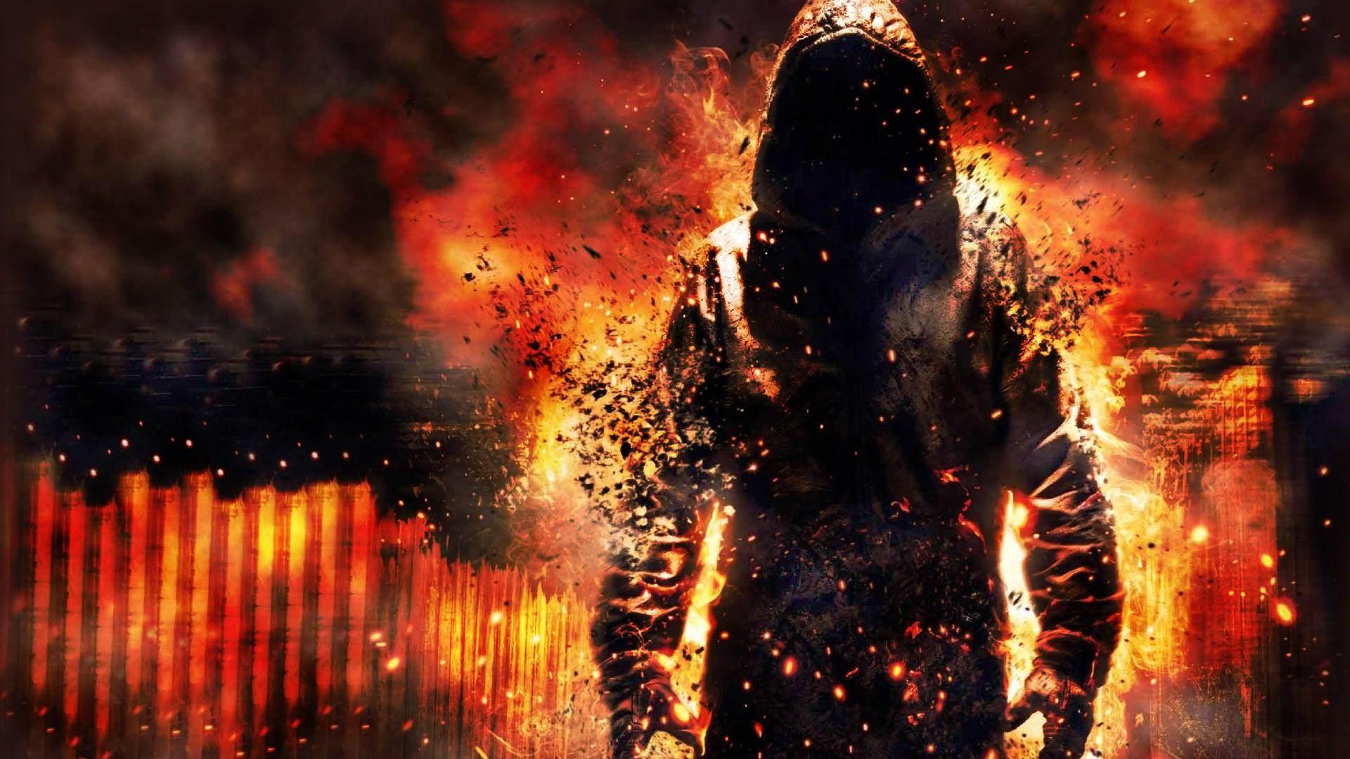 Fire Destruction Cape Beggi Man Wallpaper